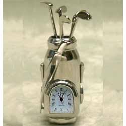 Golf Bag Miniature Clock
