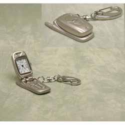 Mobile Phone Miniature Keyring Clock
