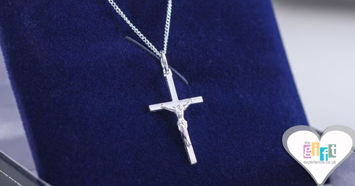 Sterling Silver Crucifix In Personalised Gift Box