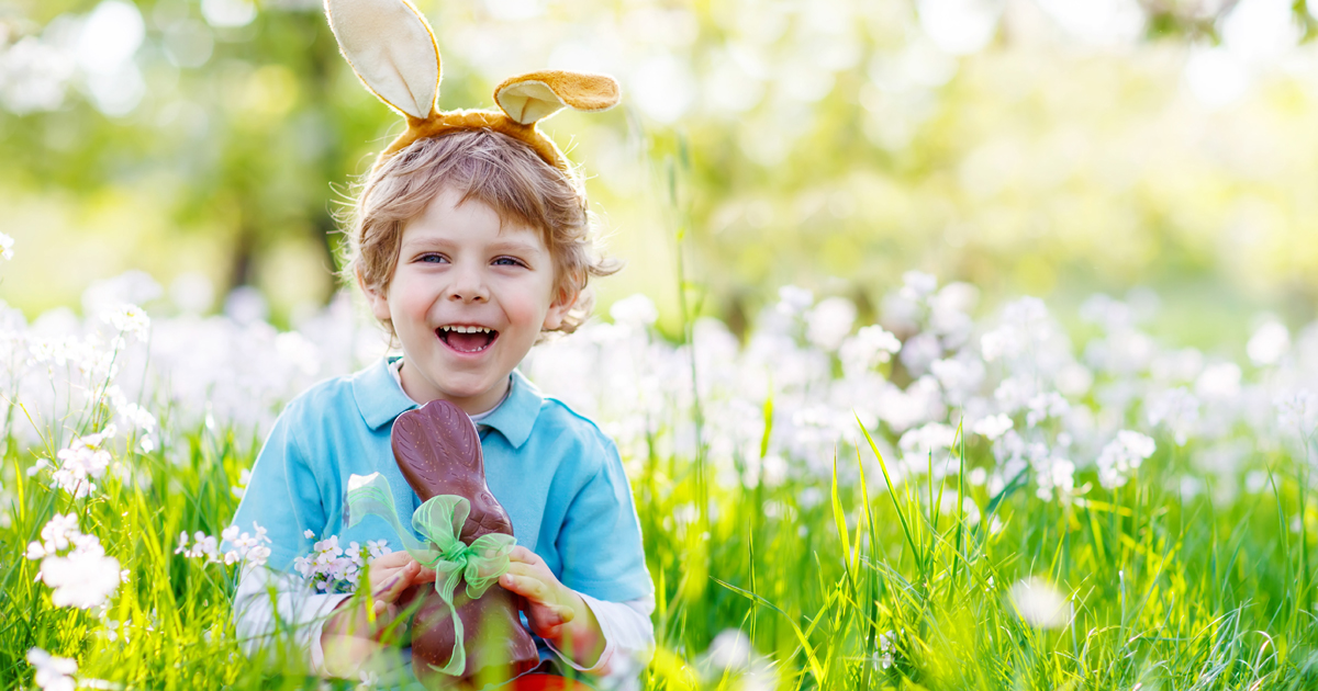 a little boy on a day out in your area for easter 2017