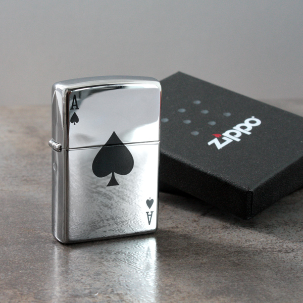 Personalised Lucky Ace Zippo Lighter - Lighter Gifts