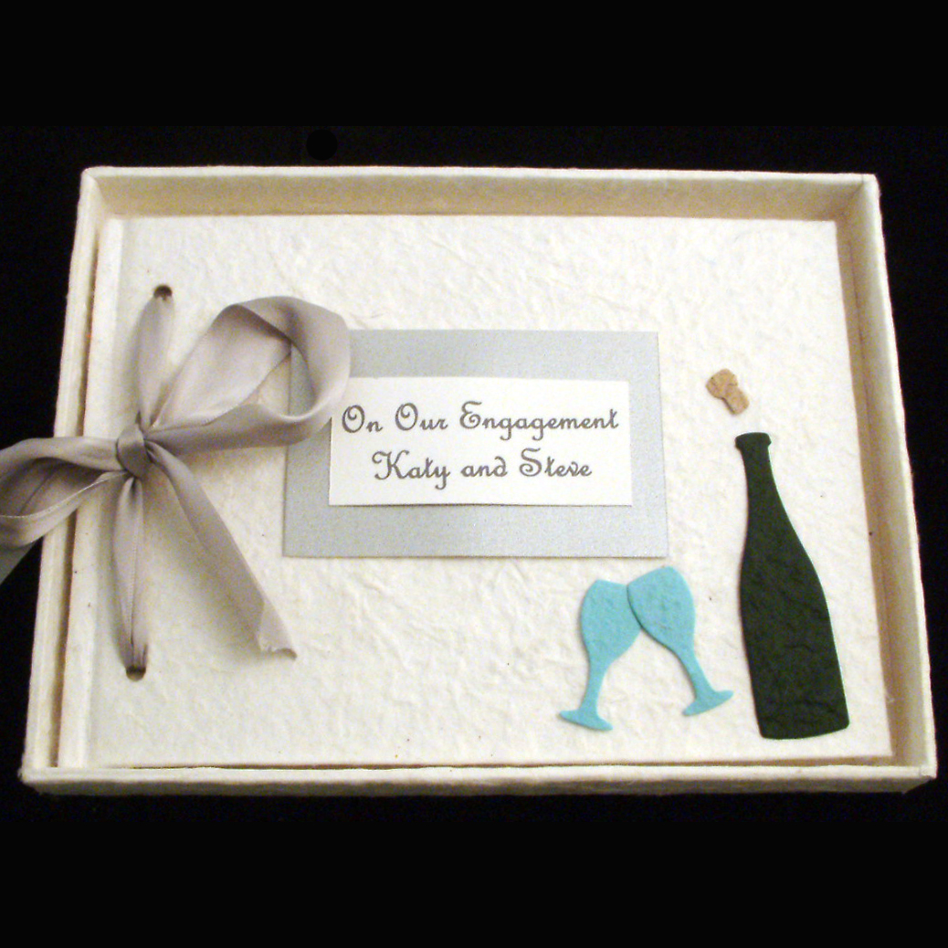 Personalised Engagement Album Champagne Design