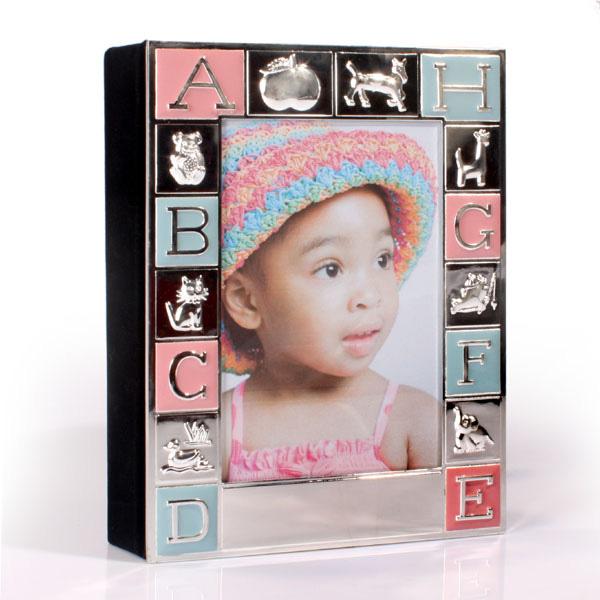 Engraved Pink and Blue Alphabet Photo Album - Photo Album Gifts