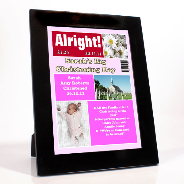 Personalised Christening Magazine Cover - Girl - Christening Gifts