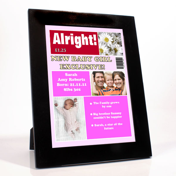Personalised New Baby Girl Magazine Cover - Baby Girl Gifts