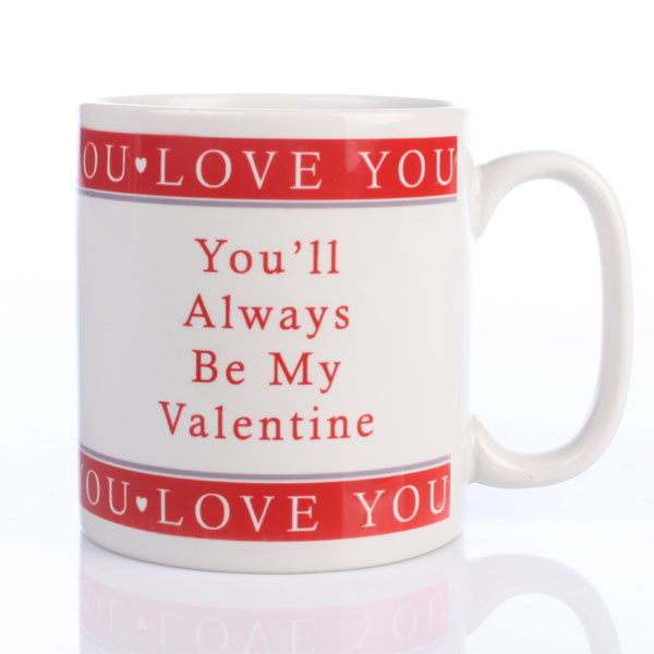 Personalised Always My Valentine Mug