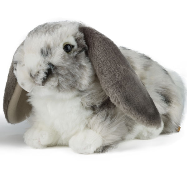 Living Nature Dutch Lop Eared Rabbit Soft Toy - Grey - Nature Gifts