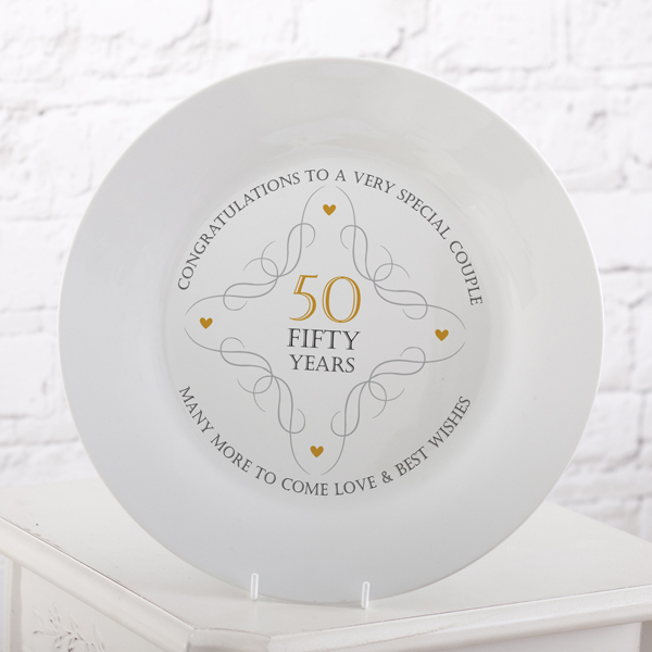 50th Anniversary Plate - 50th Gifts