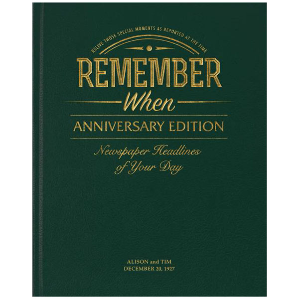 Diamond Anniversary Year Book - Personalised Mirror