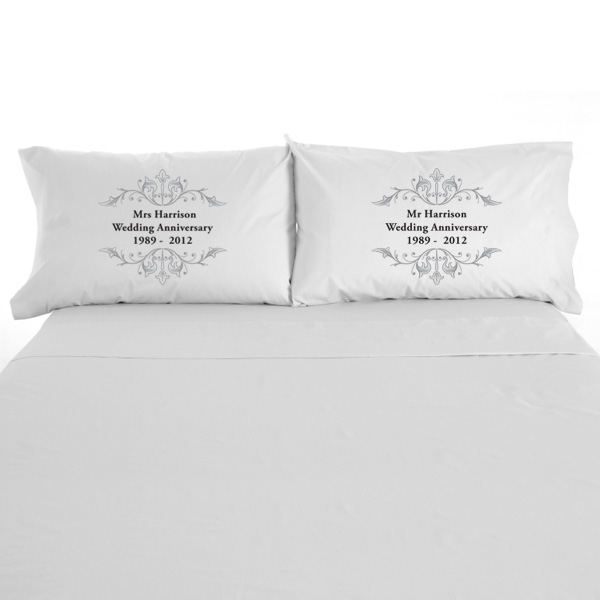Personalised Anniversary Pillowcases