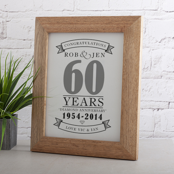 Personalised Diamond Anniversary Print