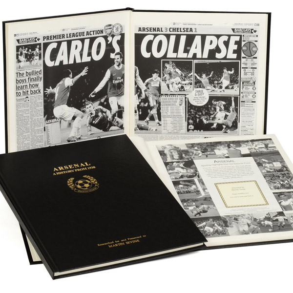 Personalised Arsenal Football Book Embossed