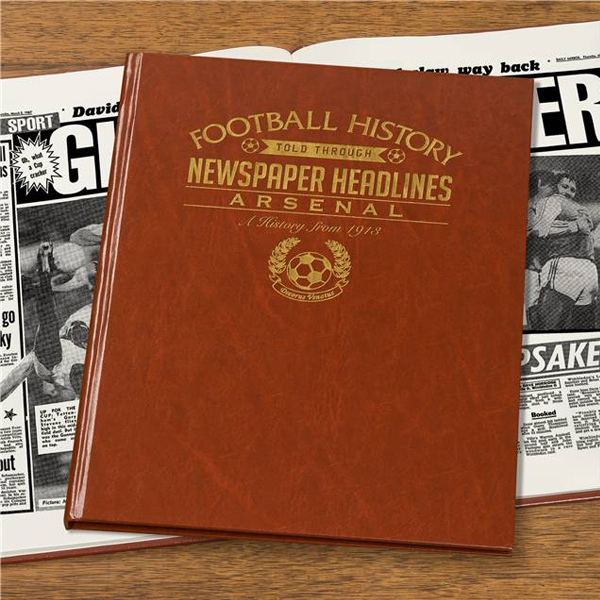 Personalised Arsenal Football Book Embossed - Arsenal Gifts