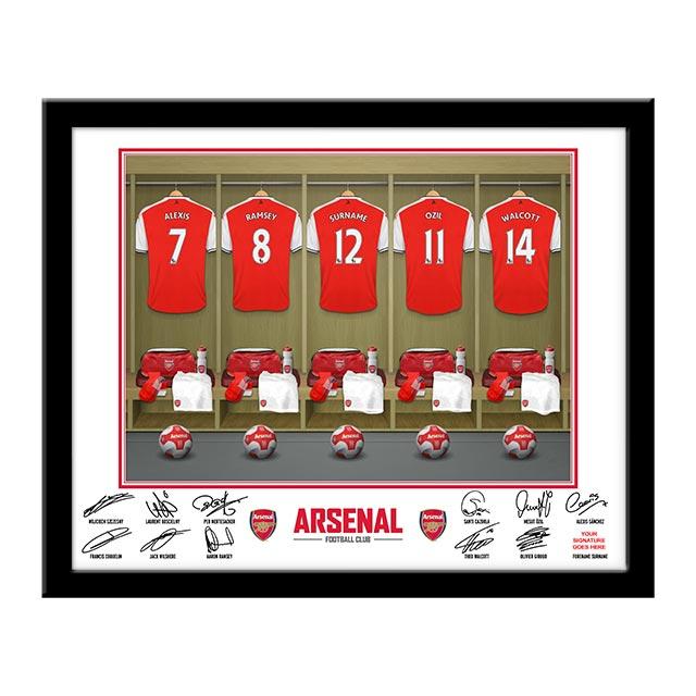 Personalised Arsenal Dressing Room Framed Photo