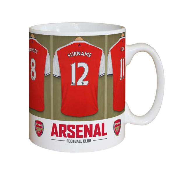 Personalised Arsenal Dressing Room Mug - Arsenal Gifts