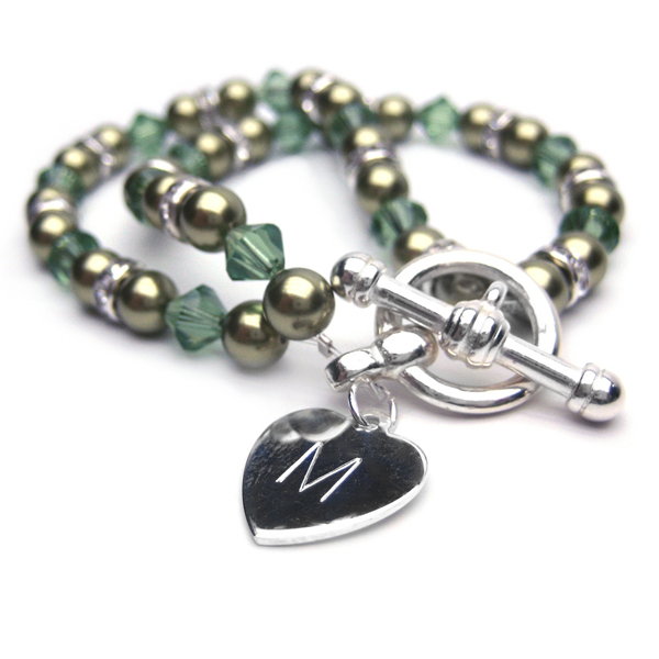 Aspire Personalised Green Double Bracelet