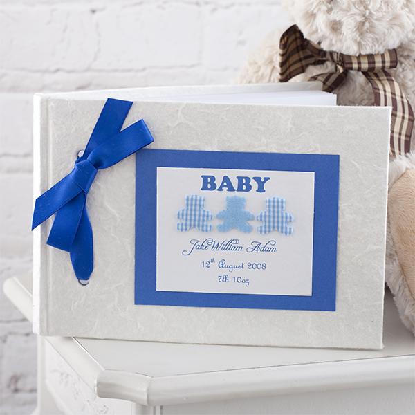 Personalised Handmade Baby Album Boy - Handmade Gifts