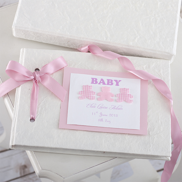 Personalised Handmade Baby Album Girl - Handmade Gifts
