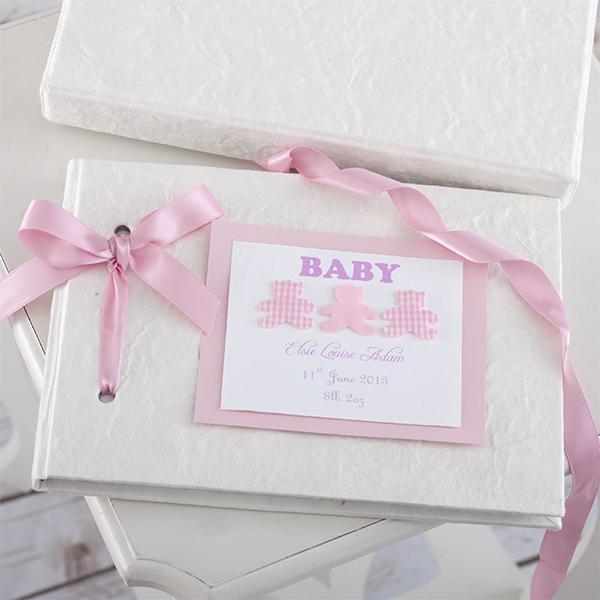 Personalised Handmade Baby Album Girl - Handmade Gifts