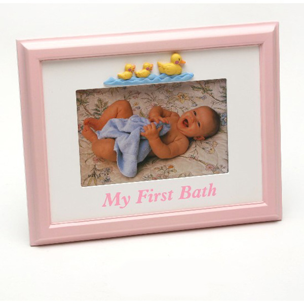 Bath Time Baby Frame Pink Baby Girl - Baby Girl Gifts