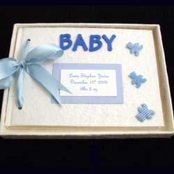 Personalised Baby Album Boy