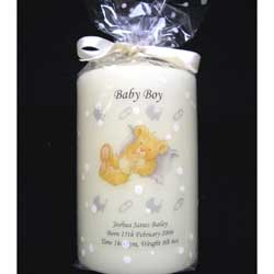 Christening Candle Baby Boy