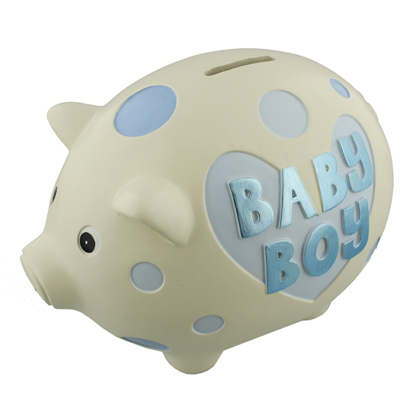 Baby Boy Large Piggy Bank - Piggy Bank Gifts