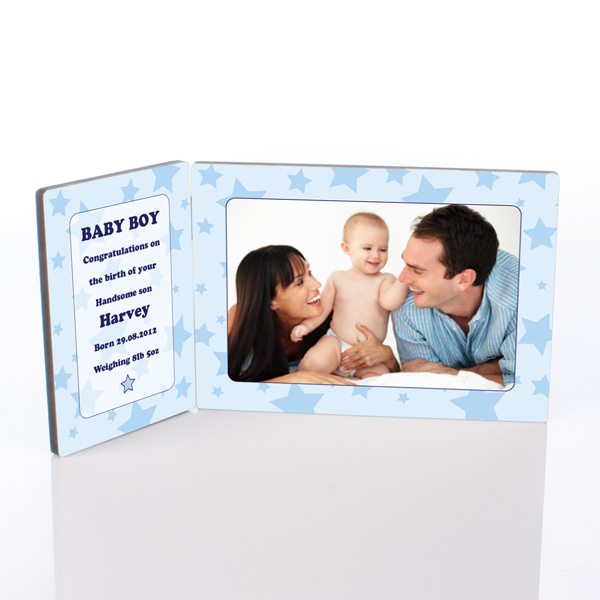 Baby Boy Photo Message Plaque - Baby Boy Gifts