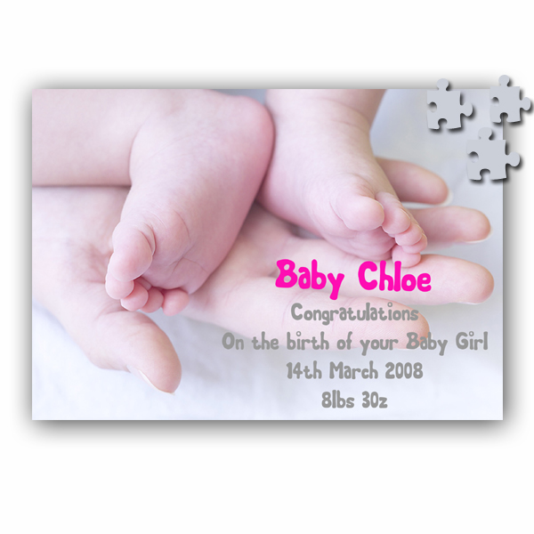 Message On A Jigsaw (Baby Design)