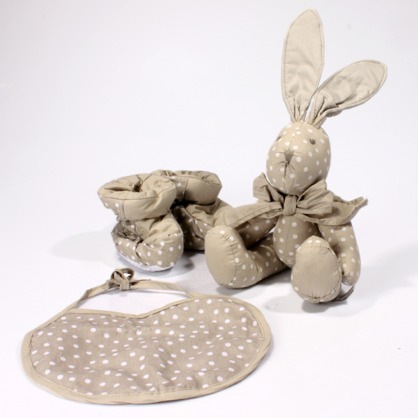 Vintage Polka Dot Luxury Baby Gift Set  Neutral