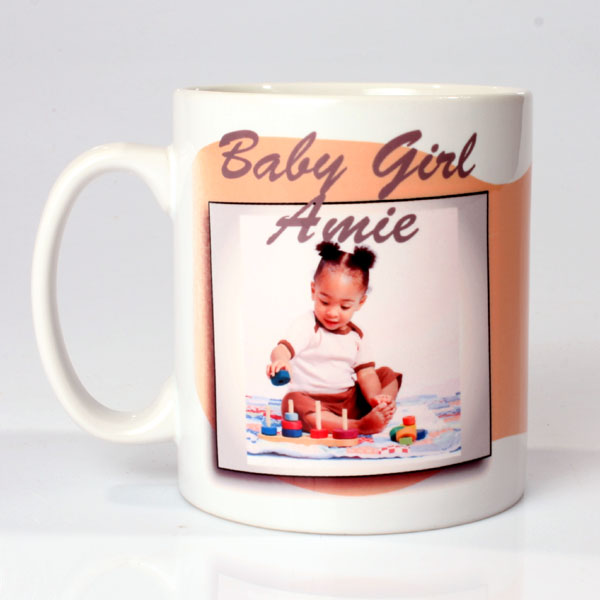 Personalised Baby Girl Photo Mug