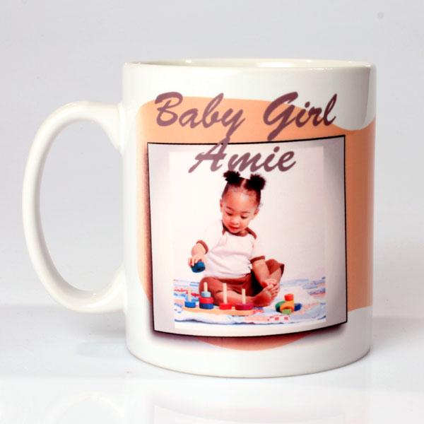 Personalised Baby Girl Photo Mug - Baby Girl Gifts