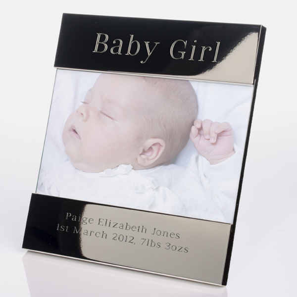 Engraved Baby Girl Photo Frame
