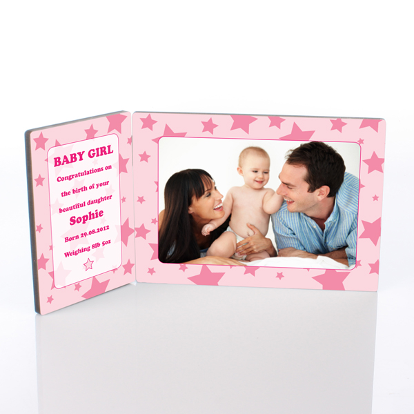 Baby Girl Photo Message Plaque - Baby Girl Gifts