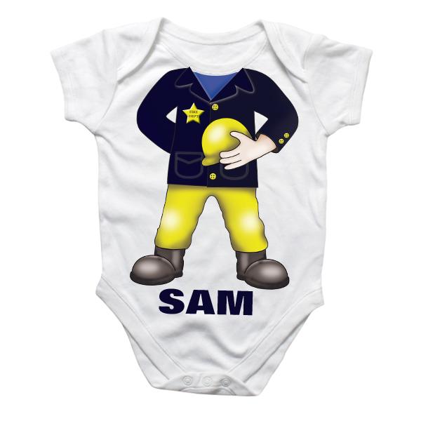 Personalised Fireman Baby Grow - Babygrow Gifts