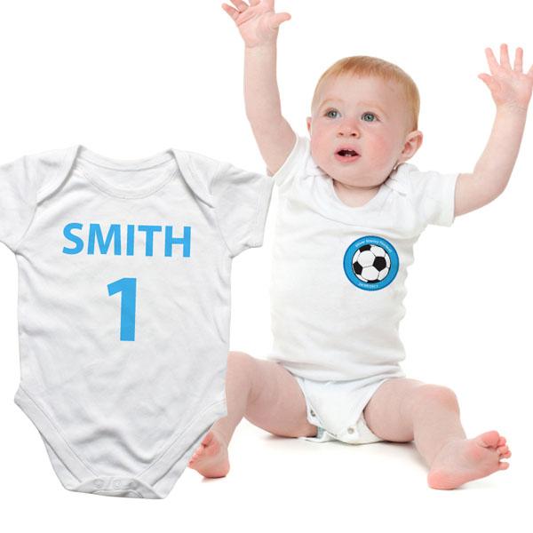 Personalised Football Baby Grow - Babygrow Gifts