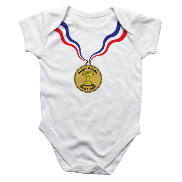 Personalised Medal Baby Grow - Babygrow Gifts