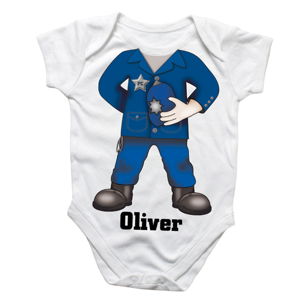Personalised Police Officer Baby Grow - Babygrow Gifts
