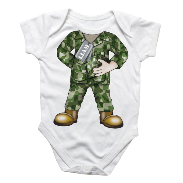 Personalised Army Baby Grow - Army Gifts