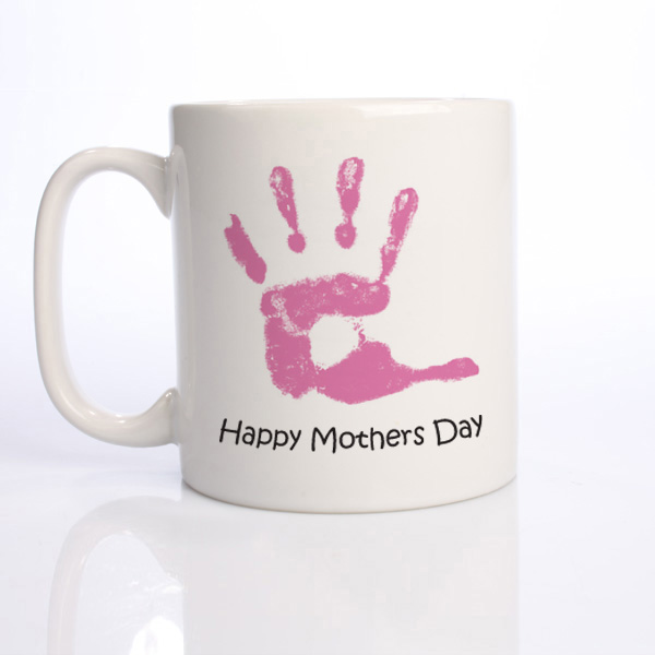 Happy Mother's Day Babys Personalised Handprint Mug