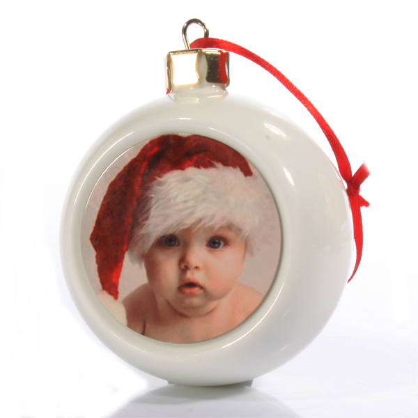 Personalised Baby Photo Bauble