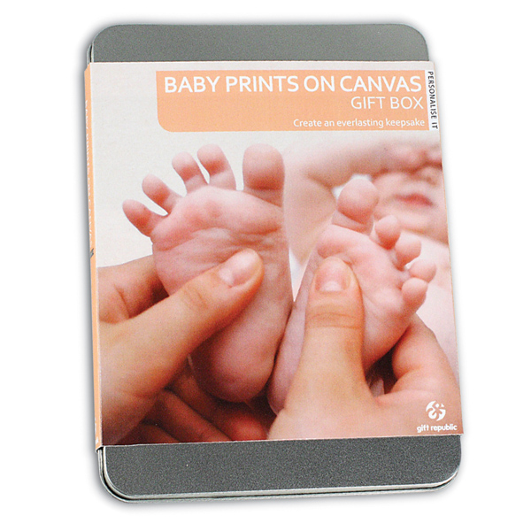 Baby Prints on a Canvas Gift Box - The Gift Experience Gifts