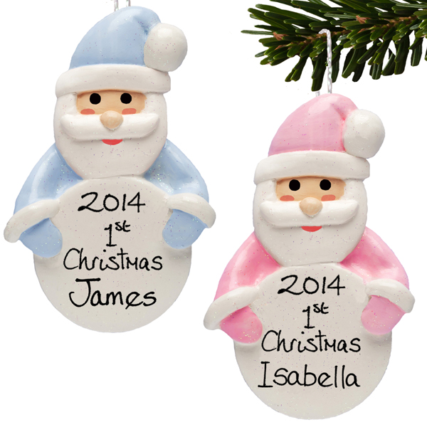 Babys First Christmas Personalised Hanging Ornament