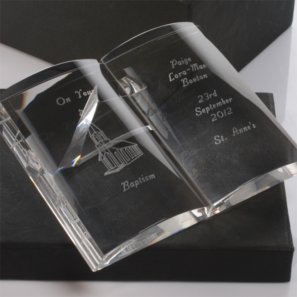 Personalised Crystal Baptism Bible - Bible Gifts