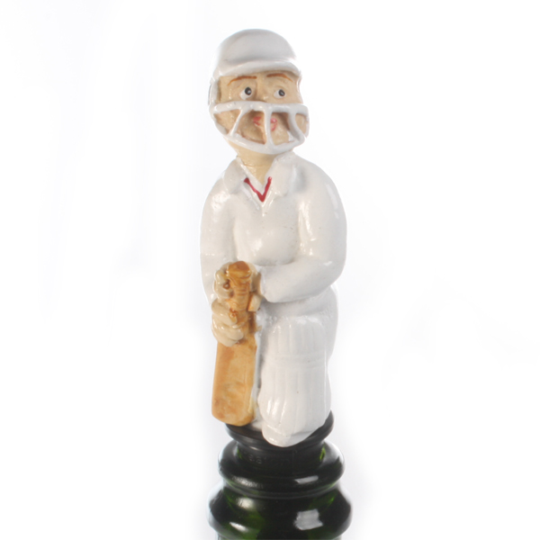 Batsman Cricket Bottle Stopper
