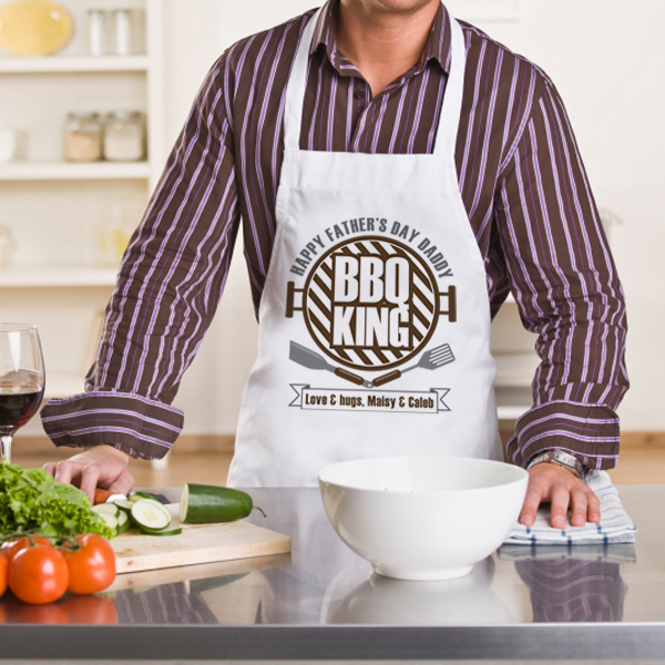 Personalised BBQ King Apron - Bbq Gifts