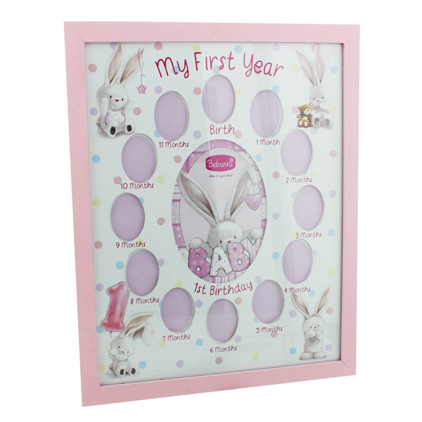 My First Year Photo Frame - Baby Girl - Baby Girl Gifts