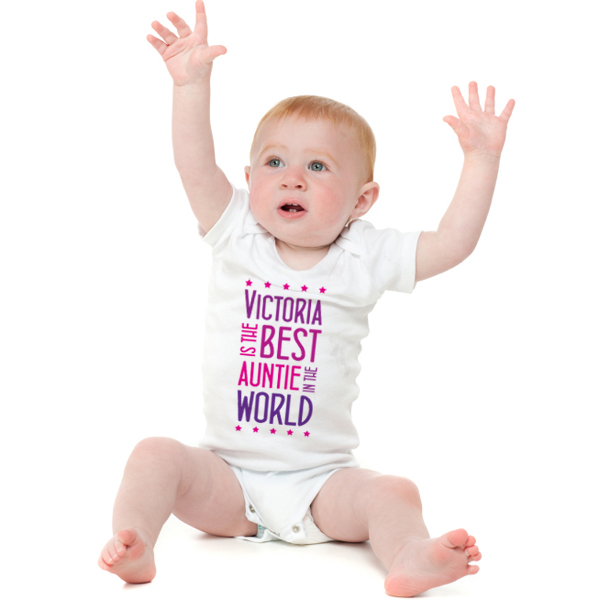 Best Auntie Personalised Baby Grow - Babygrow Gifts