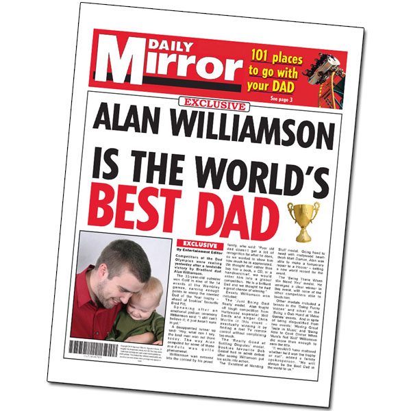 Best Dad Personalised Newspaper