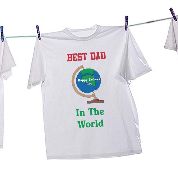 Best Dad In The World T-Shirt (Xtra Large) - Dad Gifts